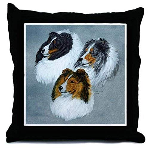 Sheltie Face Funny Throw Pillow Case Decorative Cushion Cover Sofa Couch 18 x 18