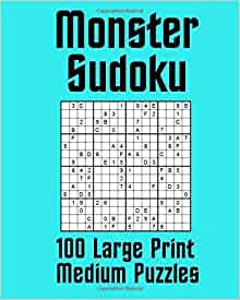 It's just a photo of Refreshing Monster Sudoku Printable