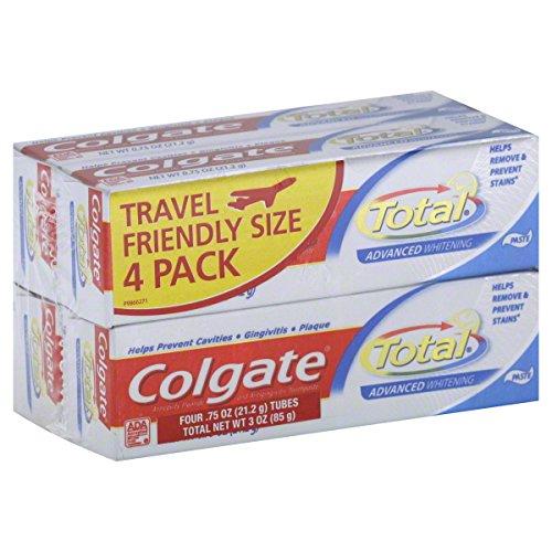 Colgate Toothpaste, Anticavity Fluoride and Antigingivitis, Advanced Whitening, Paste 4 - 0.75 oz (21.2 g) tubes [3 oz (85 g)]