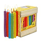 Multicolored Honeycomb Hanukkah Candles / 45 Pack