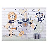 Trend Lab Safari Rock Band Canvas Wall Art, Green/Gray/Yellow/White