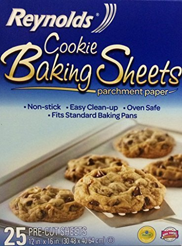 Reynolds Consumer Cookie Baking Sheets Non-stick Parchment Paper, 75 Count (3 Boxes Of 25 Sheets) ()