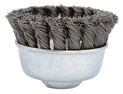Hot Max 22021 3-Inch Single Row Knot Cup Brush, Coarse, 5/8-Inch-11NC