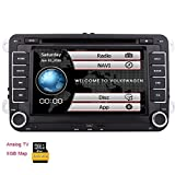 Double 2 din New VW Car DVD KitKat system Stereo GPS Navigation Autoradio Bluetooth Headunit For VW GOLF 5 6 POLO JETTA TOURAN EOS PASSAT CC TIGUAN SHARAN SCIROCCO Caddy +CANBUS For Steering Wheel Control +Analog TV