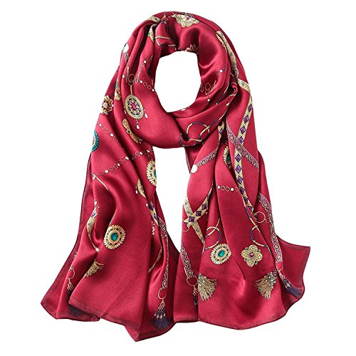 Silk Scarves for Women/Long Scarf/Perfect for Scarves, Wraps and Shawls for dresses ()