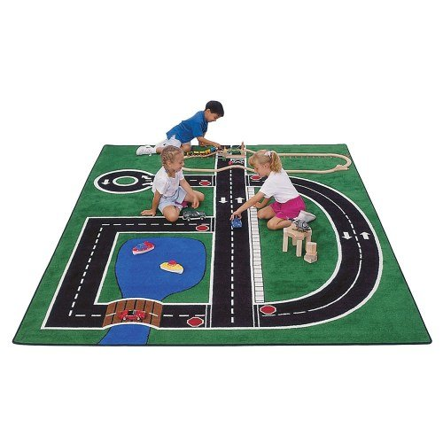Carpets for Kids 400 Theme Neighborhood Road Kids Rug Rug Size: 5'10'' x 8'4'' by Carpets for Kids