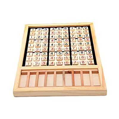 GUANGS Wooden Sudoku Chess Digits 1 to 9 Desktop Games Adult Kids Puzzle Education Toys