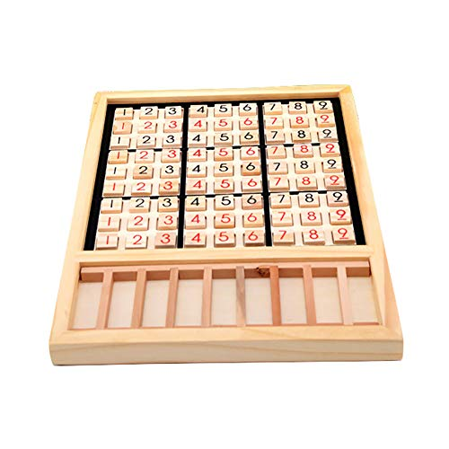 eroute66 Wooden Sudoku Chess Digits 1 to 9 Desktop Games Adult Kids Puzzle Education Toys by eroute66 (Image #6)