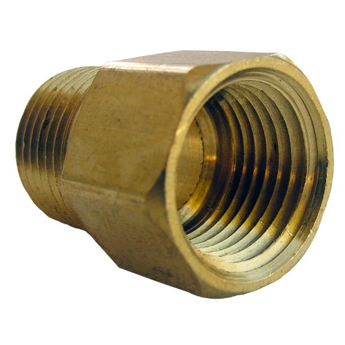 Female Pipe Coupling - LASCO 17-8549 1/2-Inch Female Pipe Thread by 1/2-Inch Male Pipe Thread Brass Coupling