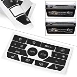 GZYF Auto Car Climate Control Button Stickers Decal Fits 2009-2015 BMW 5 Series