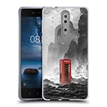 Official Daniel Conway Phonebooth Surreal Scenery Soft Gel Case for Nokia 8