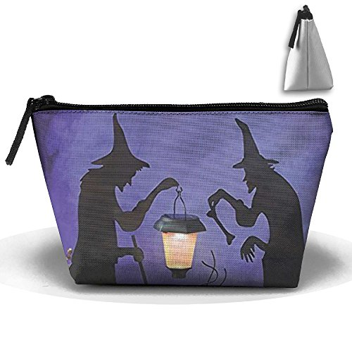 Witch Cauldron Handbag (New Portable Witch Cauldron Pot Solar Lighted Lantern Halloween Silhouette Travel&home Bag Storage Bag Buggy Bag Printed Cosmetic Bags Toiletry Bag Make-up Receive)