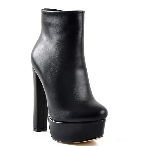 ANNIESHOE Botas Mujer Zapatos Elegantes Botines Vestir Tacon Alto Plataforma Otoño: Amazon.es: Zapatos y complementos