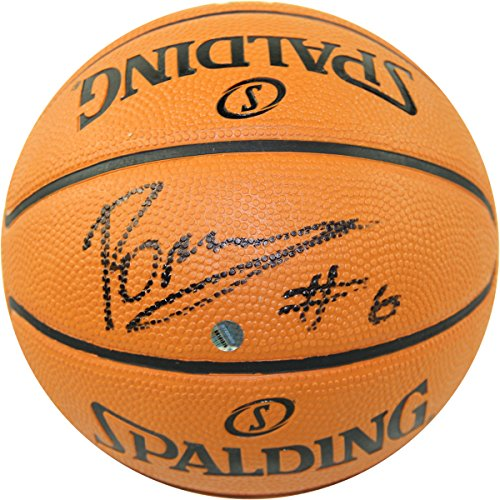 Autographed Official Nba Basketball (Kristaps Porzingis Autographed NBA National Basketball Association Mini 5 Inch Synthetic Basketball)