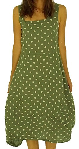 Kleid Design Tunika de Leinen Mein HE700 Lagenlook Mallorca Damen Oliv FXw7P