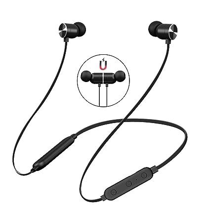 Auriculares Bluetooth 4.2, Auriculares inalámbricos magnéticos y Deportivos, In Ear Auriculares con Cancelación de