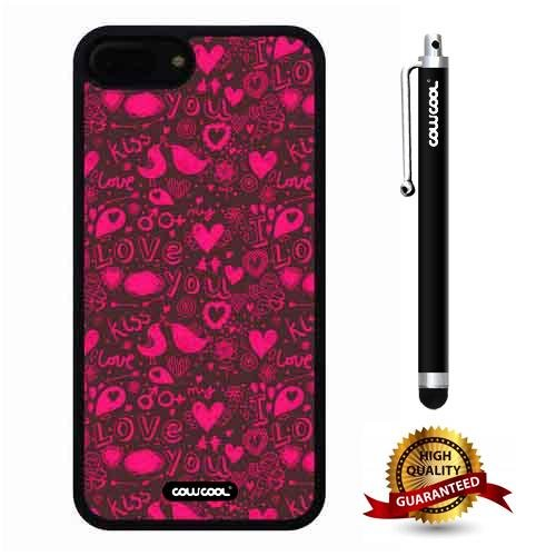 iphone 8 Plus Case, iphone 7 Plus Case, Character Case, Cowcool Ultra Thin Soft Silicone Case for Apple iphone 7 8 Plus - Purple Love Camo