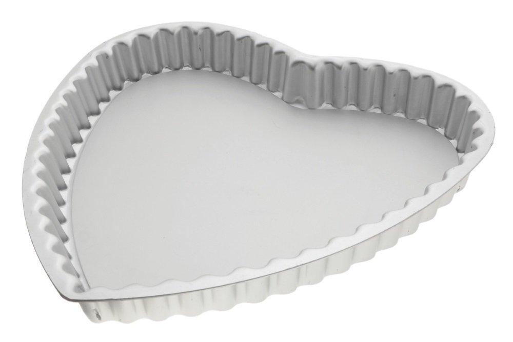 Alan Silverwood Heart Shaped Flan pan, loose based 23cm 22193 Anodised Bakeware Cake Tins & Moulds