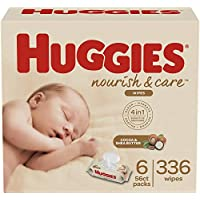 6-Pack Huggies Nourish & Care Baby Wipes (336 Wipes Total)