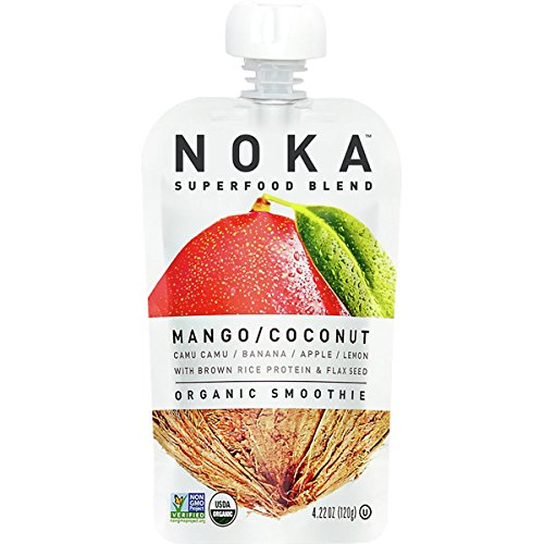 (NOKA Organic Mango Coconut Superfood Squeeze, 4.22 OZ)