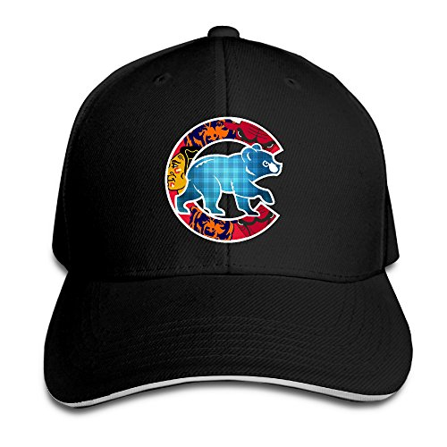 Hotboy19 Adult Chicago Sport Baseball Logo Mixed Reversed Baseball Cap Black