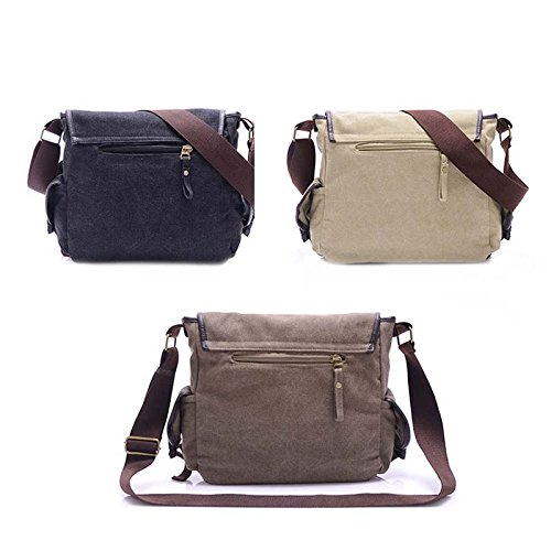 Army Bags Hrph Men Canvas Travel Military Bags Women Casual Bag Vintage Messenger Sports Crossbody Black Bag Shoulder wtqrYZwB
