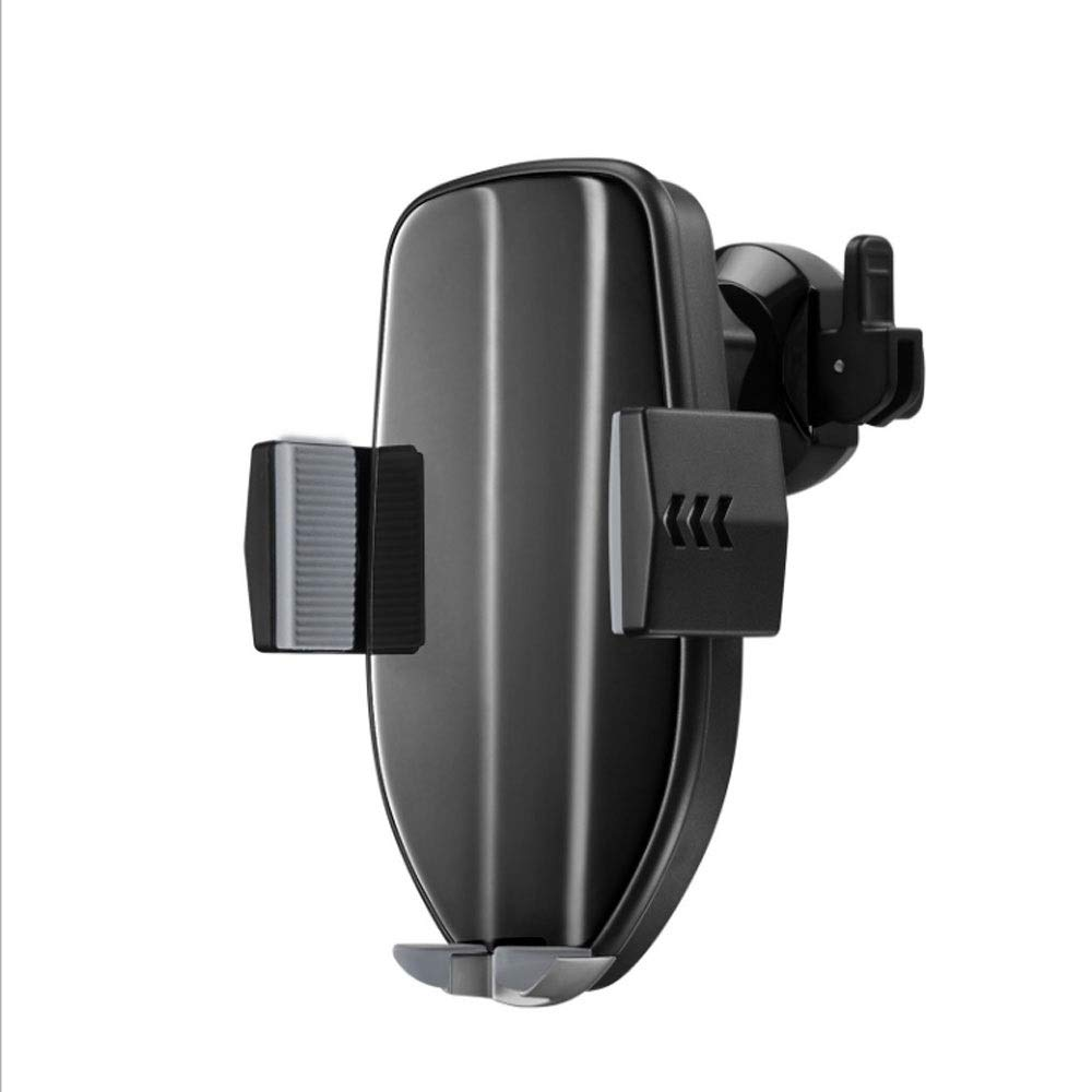 QTRT Wireless Car Charger Mount, Smart Wireless Charger Car Phone Holder 10W Wireless Charging(Can Still Open and Close After Power Off), Compatible with iPhone Xs/Xs Max/XR/X/ 8/8 Plus
