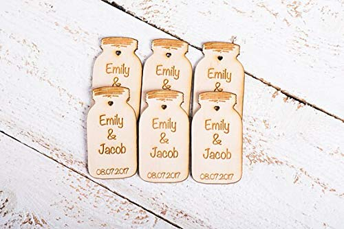 Wood Tags Personalized Wedding Favors Save The Date Wooden Tag Rustic Custom