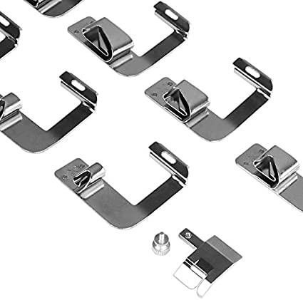 Ju-ki Jan-ome SOOTOP 8Pcs Sewing Machine Presser Feet Set Baby-lock Stainless Zinc Alloy Steel Hemming Clips for Low Shank Snap-On Sewing Machine S-inger Ken-more Euro-Pro W-hite Bro-ther