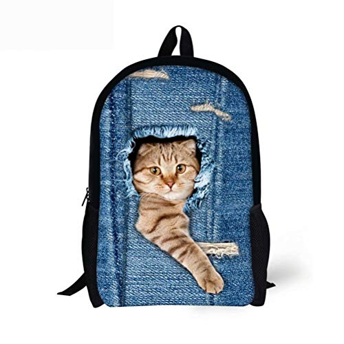 Aulaygo 3D Animal Printed School Backpack Cute Cat Dog Bookbags for Boys Girls