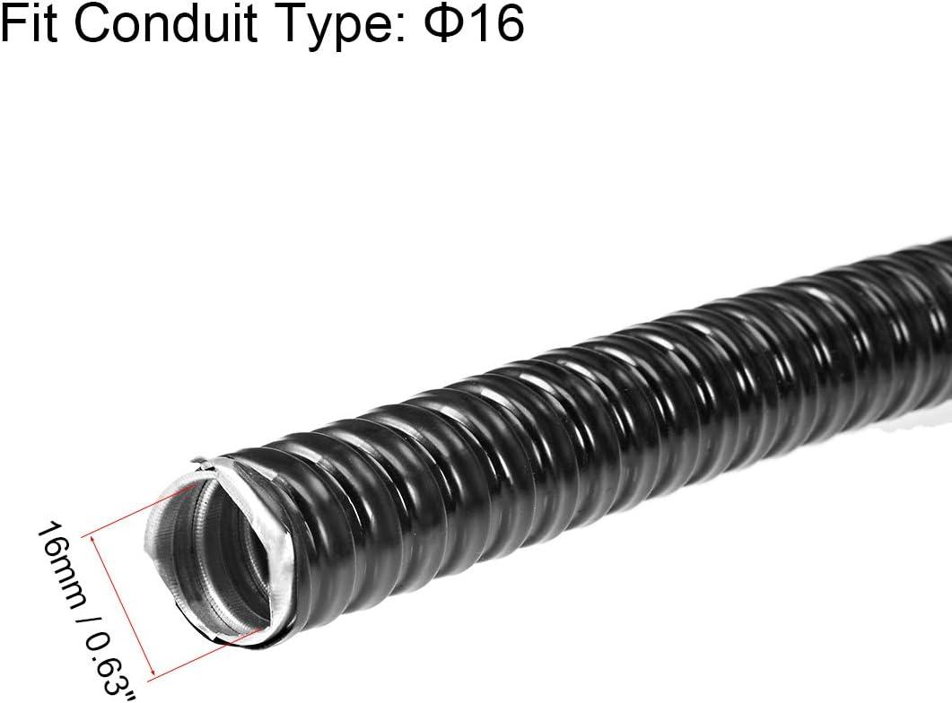 2 m flexibel a19012600ux1226 uxcell Metall-Rohr f/ür Drahtkabel /Î/¦13