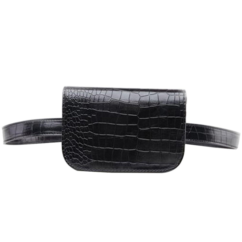 Badiya Fashion Crocodile Veins Mini Leather Multifunction Waist Bag Belt  Bag for Women Gift 7d025294d3fd6