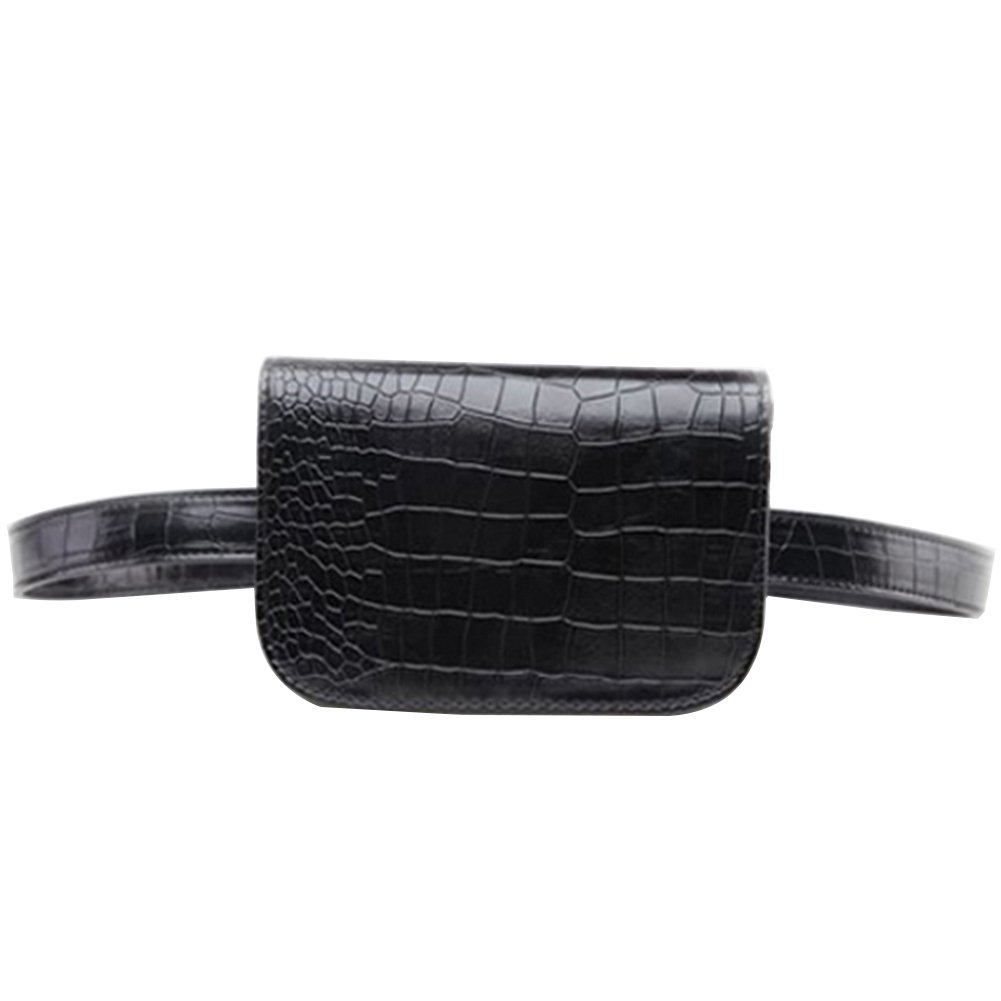 Women's Fashion Mini Waist Bag Fanny Packs Crocodile Leather Cell Phone Pocket