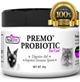 CAT PROBIOTICS - 100% Satisfaction Guarantee - Natural Choice - Plus Prebiotics - Made in USA - Best For Diarrhea, Vomiting, Gas, Skin Conditions - Tasteless - No Fillers - Non GMO - Soy, Wheat & Dairy Free - GMP Certified - Veterinarian Recommended.