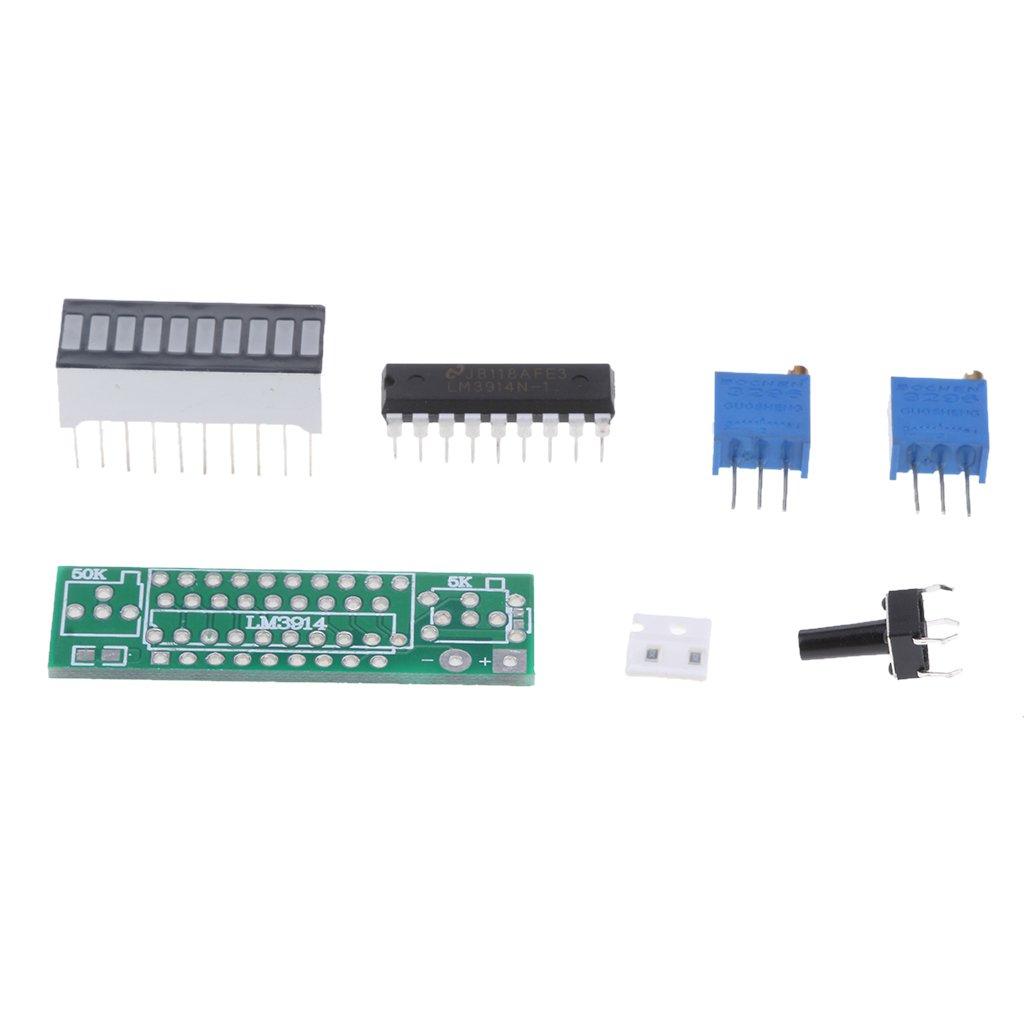 Baoblaze Diy Lm3914 Power Indicator 36v 18v Battery Circuit Led Bar Ic Picture Of Good Electronic Electronics