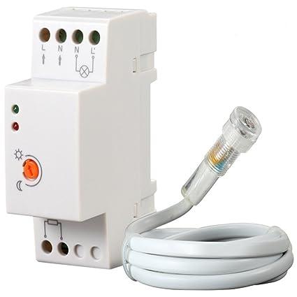 Interruptor crepuscular para utilizo exterior IP44 Electraline 58060 color blanco