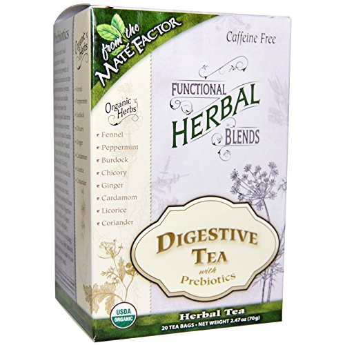 - Mate Factor Functional Herbal Blends Digestive Tea with Prebiotics 20 Bag by The Mate Factor