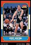 1986 Fleer # 101 Jerry Sichting Boston Celtics (Basketball Card) Dean's Cards 8 - NM/MT Celtics