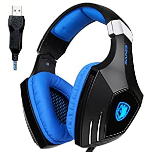 Amazon.com: Sades AW80 USB Stereo Gaming Headset Over Ear ...