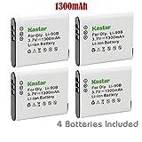 Kastar Battery (4-Pack) for Olympus LI-90B, LI-92B, UC-90 work with Olympus SH-1, SH-50 iHS, SH-60, SP-100, SP-100EE, Tough TG-1 iHS, Tough TG-2 iHS, Tough TG-3, XZ-2 iHS Cameras