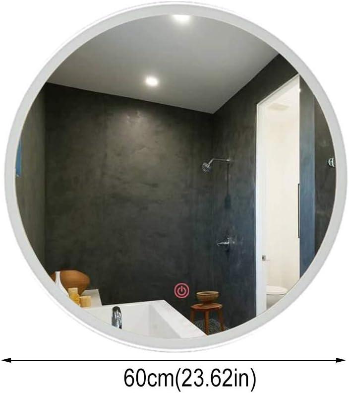 Amazon Com Njyt Wall Mirror Contemporary Wall Mirror Mirror Decorative Circular Frameless Mirror Bathroom Environmental Protection Energy Saving Color White Light Size 60cmx60cm Home Kitchen