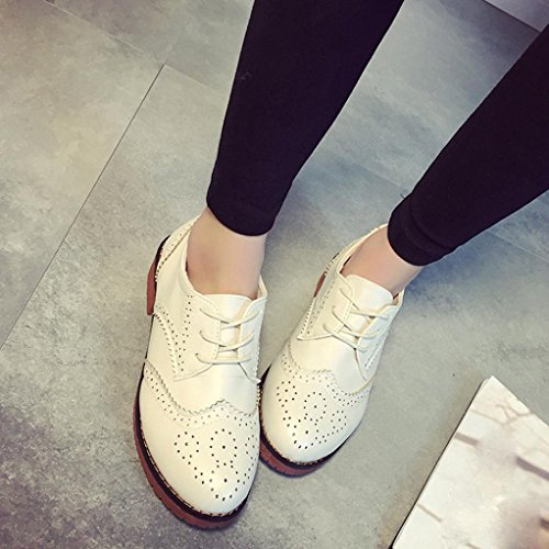 Calzado de mujer, Amlaiworld Moda Zapatos Retro Zapatos Beige
