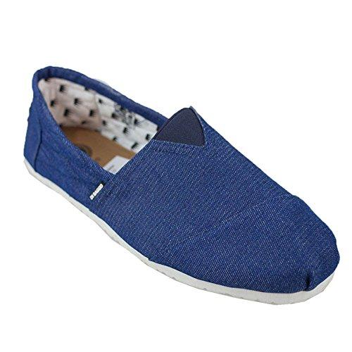 Di Baggio Mens Denim Summer Elasticated Slip On Espadrilles Plimsoll Shoes Navy
