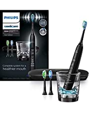 Philips Sonicare DiamondClean Smart Electric, Rechargeable toothbrush for Complete Oral Care – 9300 Series, Black, HX9903/11