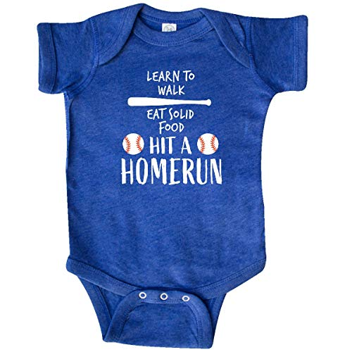 inktastic - Baseball to-Do Infant Creeper Newborn Retro Heather Royal 351d6