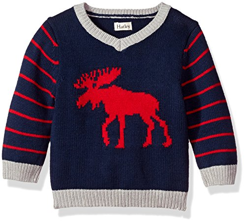 Hatley Baby Boys Mini V-Neck Sweater, Classic Mouse, 18-24M