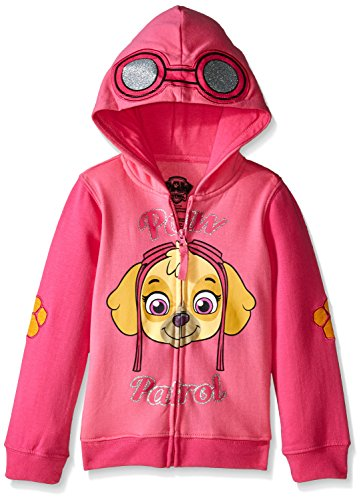 Paw Patrol Little Girls' Skye Toddler Hoodie, Hot Pink/Heather Pink, 5T