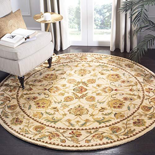 Safavieh Bergama Collection BRG161B Handmade Ivory Premium Wool Round Area Rug (4' - Bergama 4' Collection