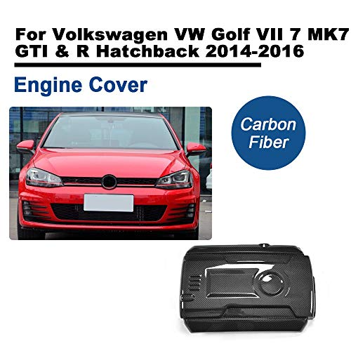 TGFOF Fits Golf VII 7 MK7 GTI & R Hatchback 2014-2016 Black Carbon Fiber Hood Engine Cover Car Tuning