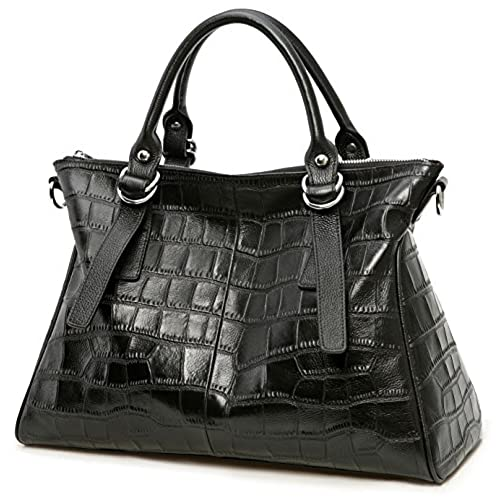 Black Handbags with Silver Hardware: Amazon.com